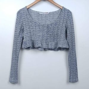 Opening Ceremony | Knit Long Sleeve Ruffle Crop